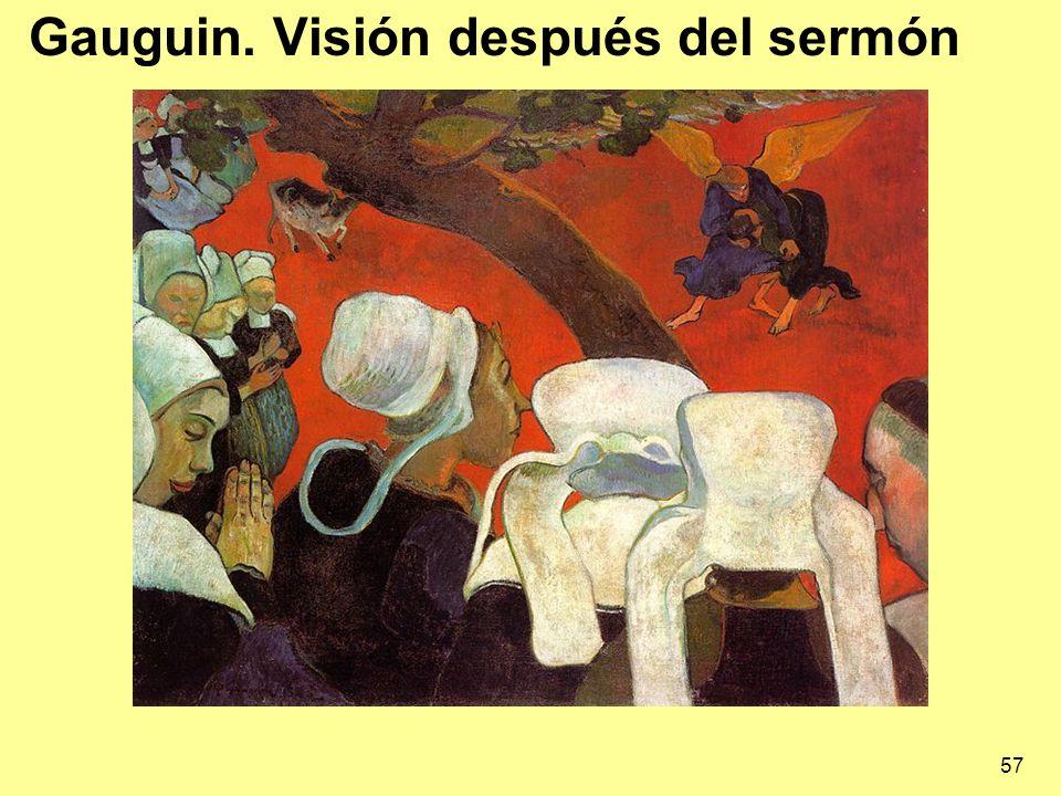 Gauguin. Visión después del sermón