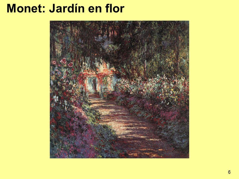 Monet: Jardín en flor