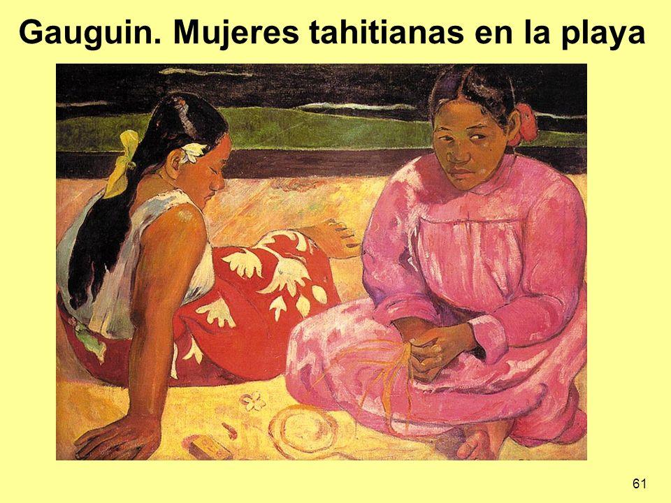 Gauguin. Mujeres tahitianas en la playa