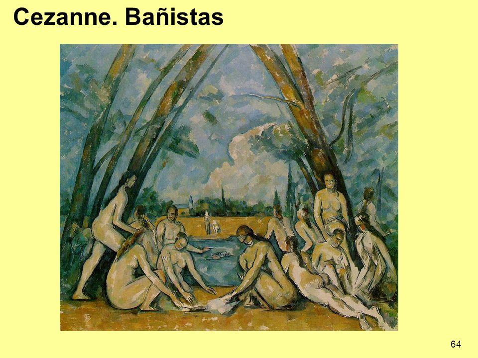 Cezanne. Bañistas