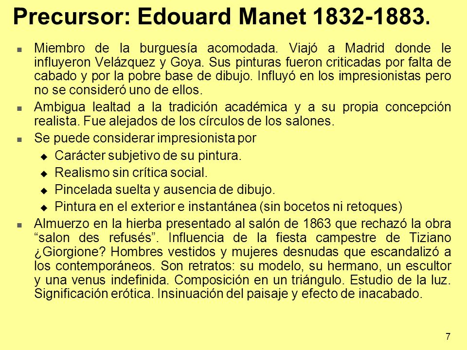 Precursor: Edouard Manet 1832-1883.