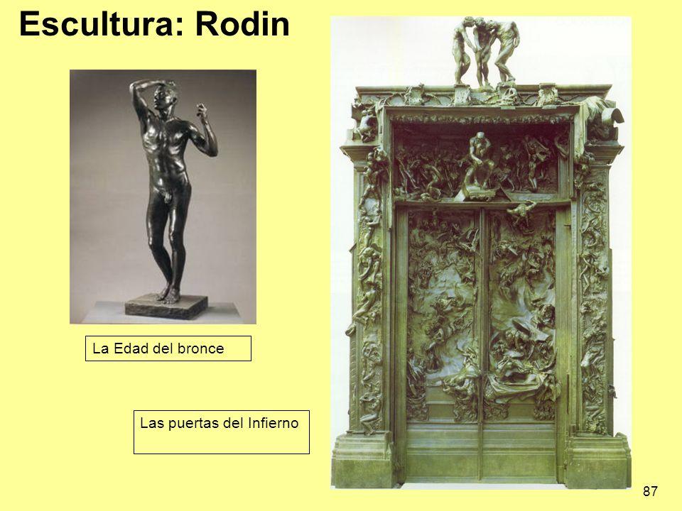 Escultura: Rodin La Edad del bronce Las puertas del Infierno