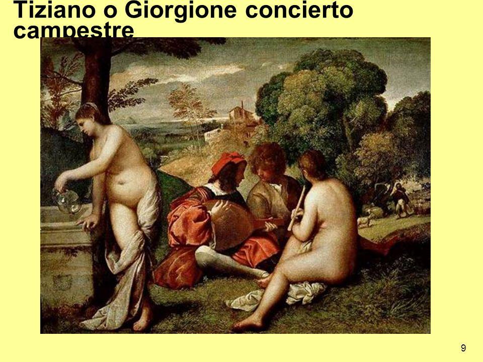 Tiziano o Giorgione concierto campestre