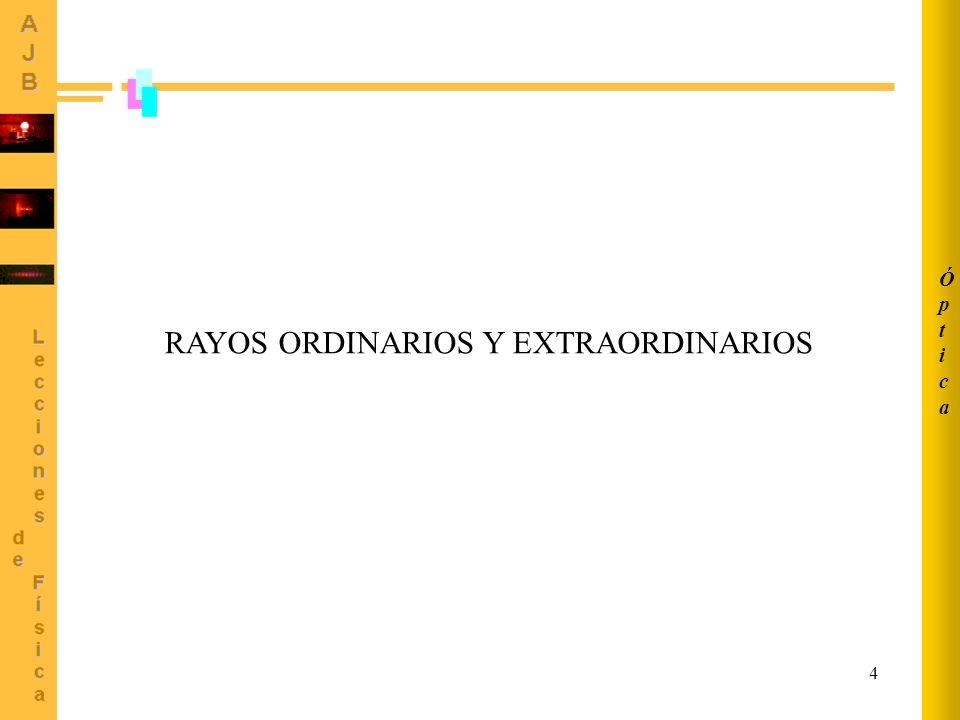 RAYOS ORDINARIOS Y EXTRAORDINARIOS