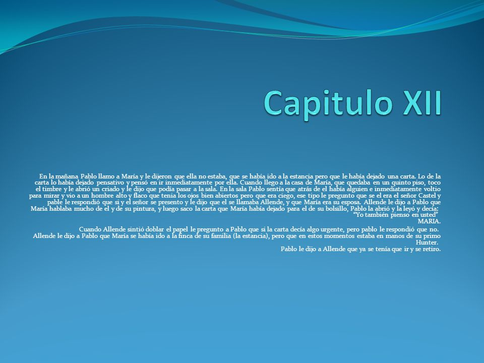 Capitulo XII