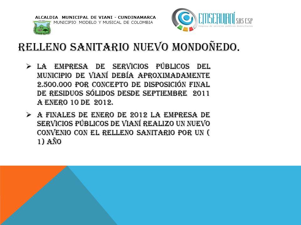 Relleno sanitario nuevo Mondoñedo.