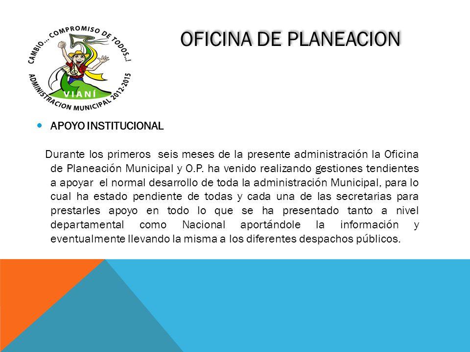 OFICINA DE PLANEACION APOYO INSTITUCIONAL