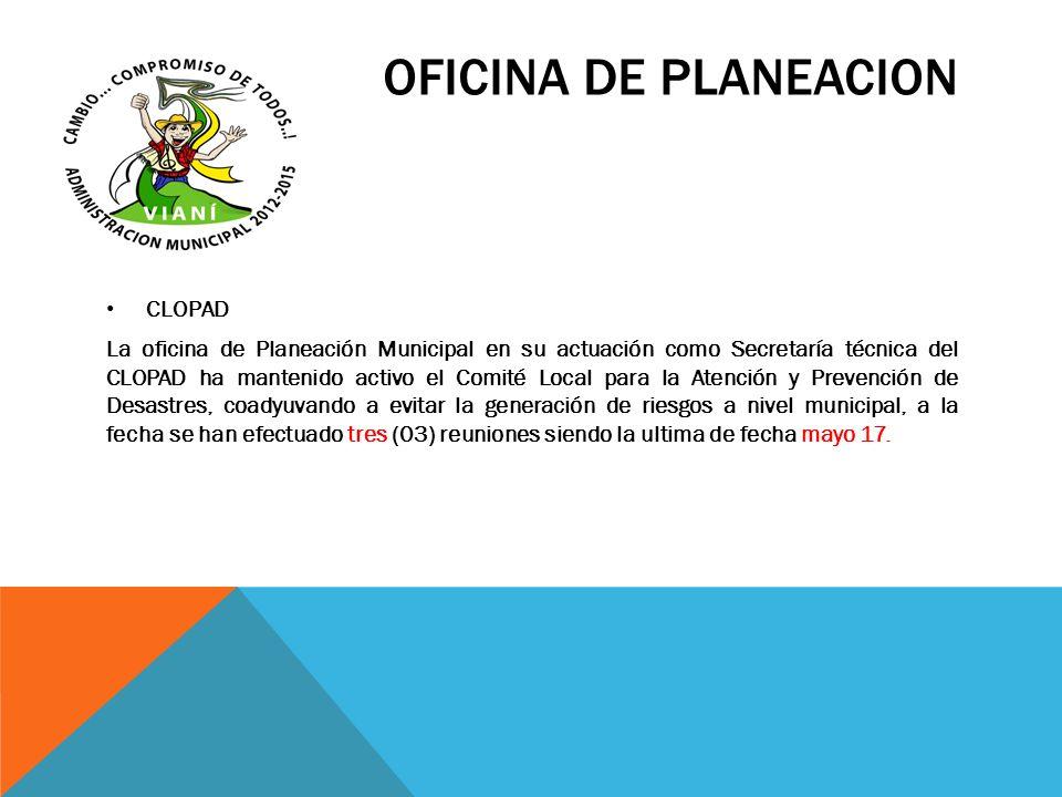 OFICINA DE PLANEACION CLOPAD