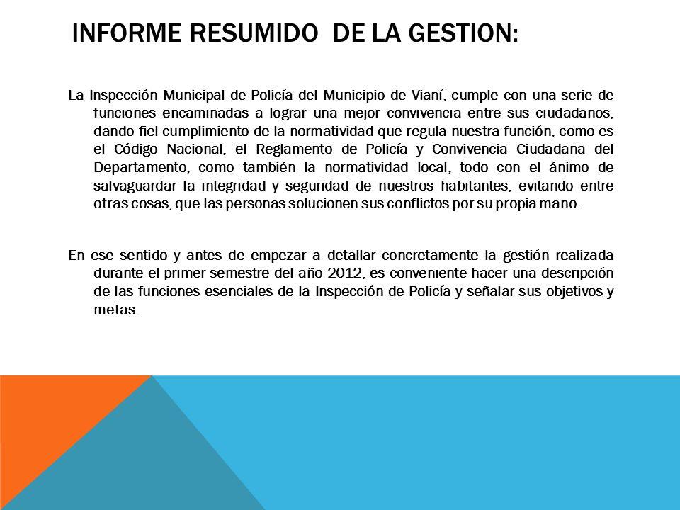 INFORME RESUMIDO DE LA GESTION: