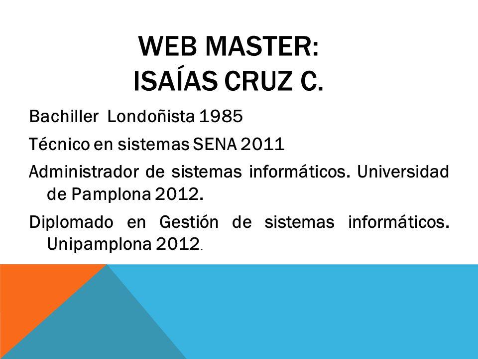 WEB MASTER: Isaías Cruz C.