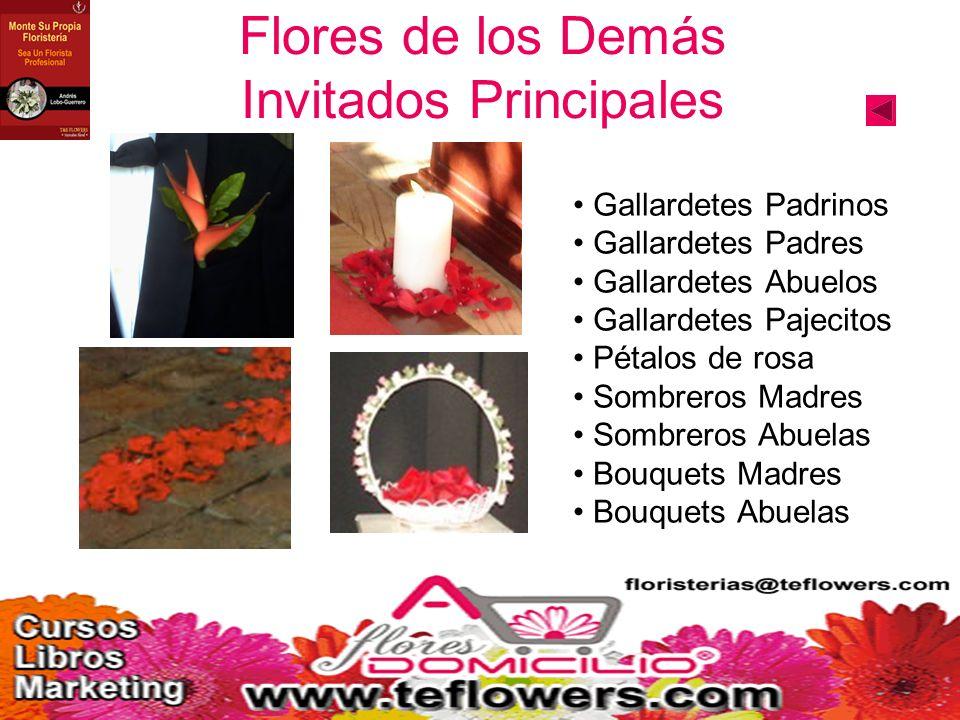 Flores de los Demás Invitados Principales