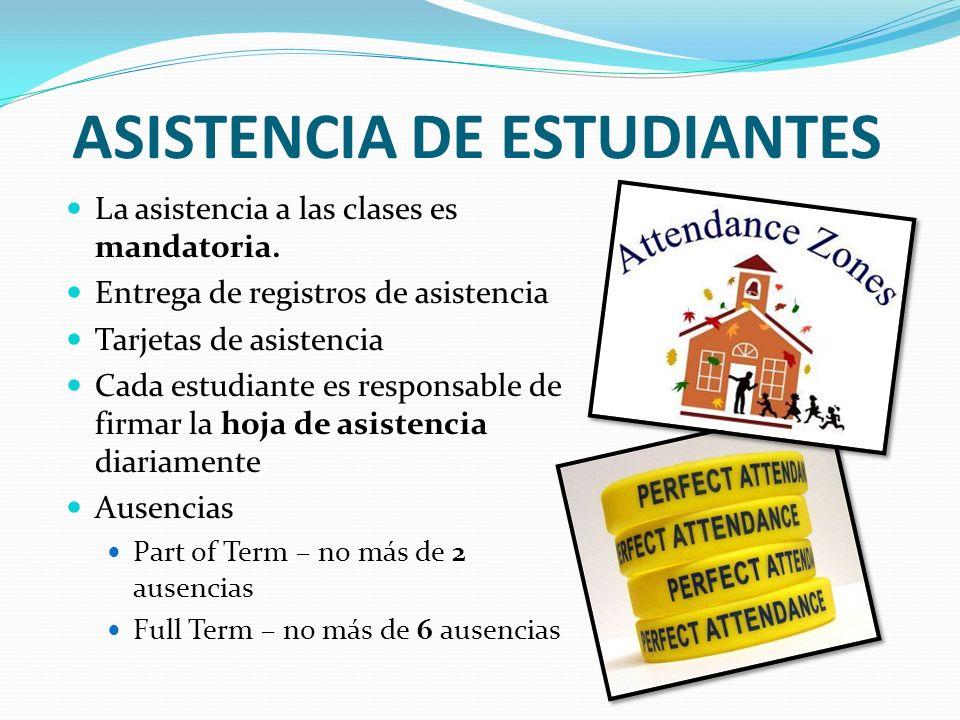 ASISTENCIA DE ESTUDIANTES