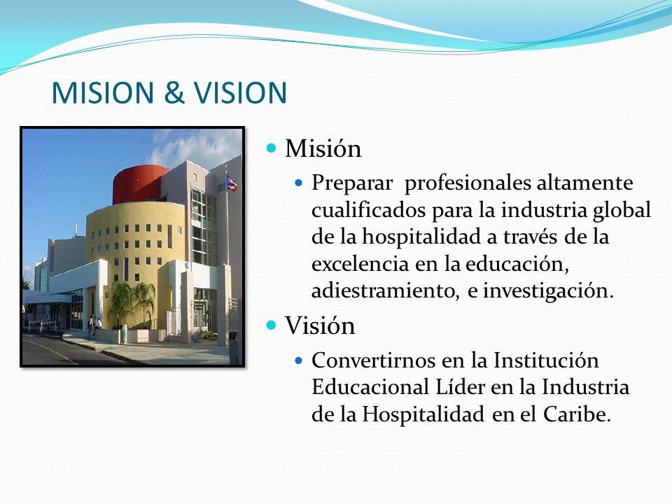 MISION & VISION Misión Visión