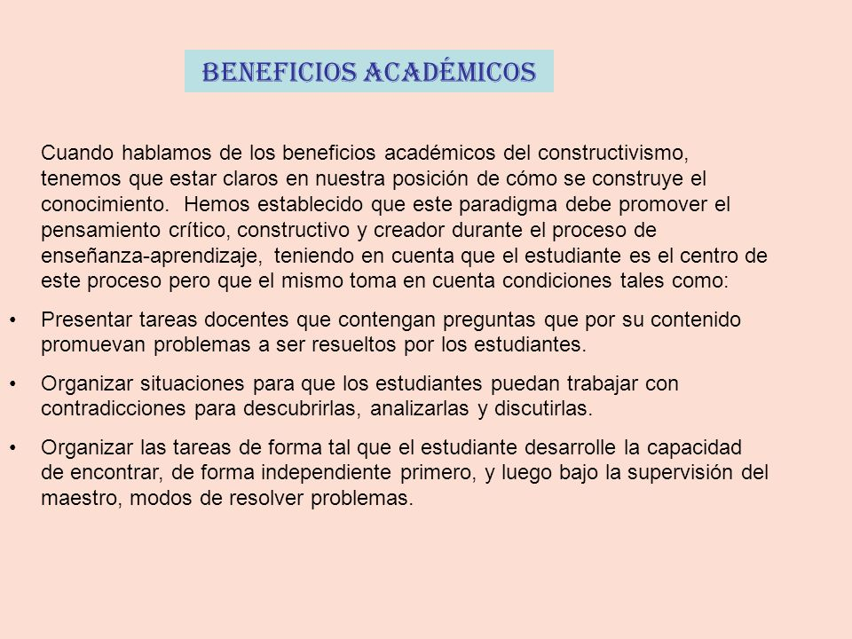 Beneficios Académicos