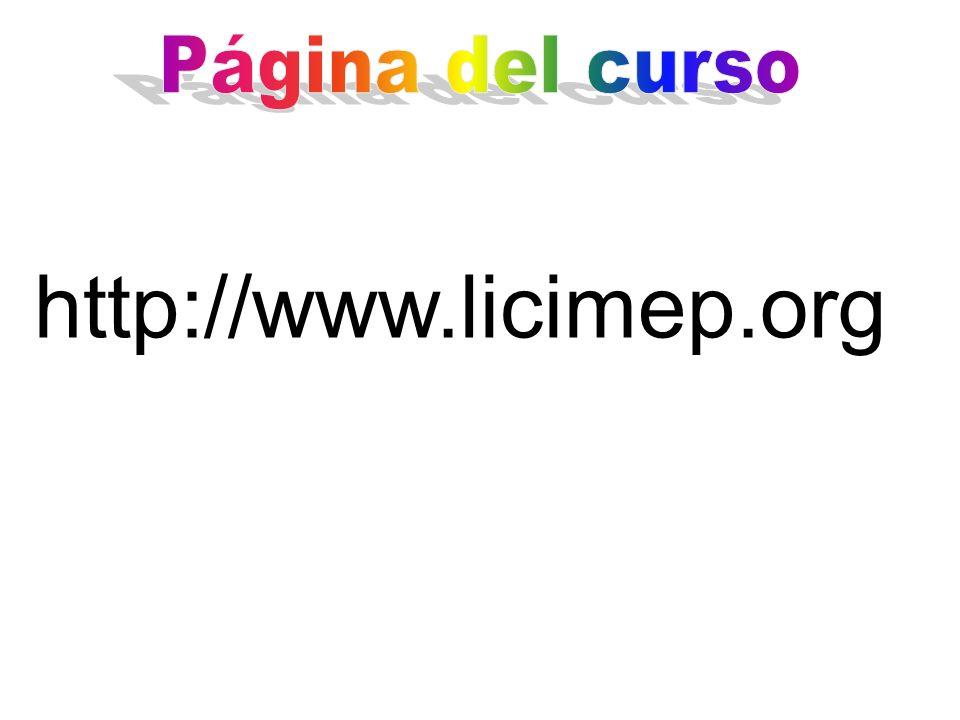Página del curso http://www.licimep.org