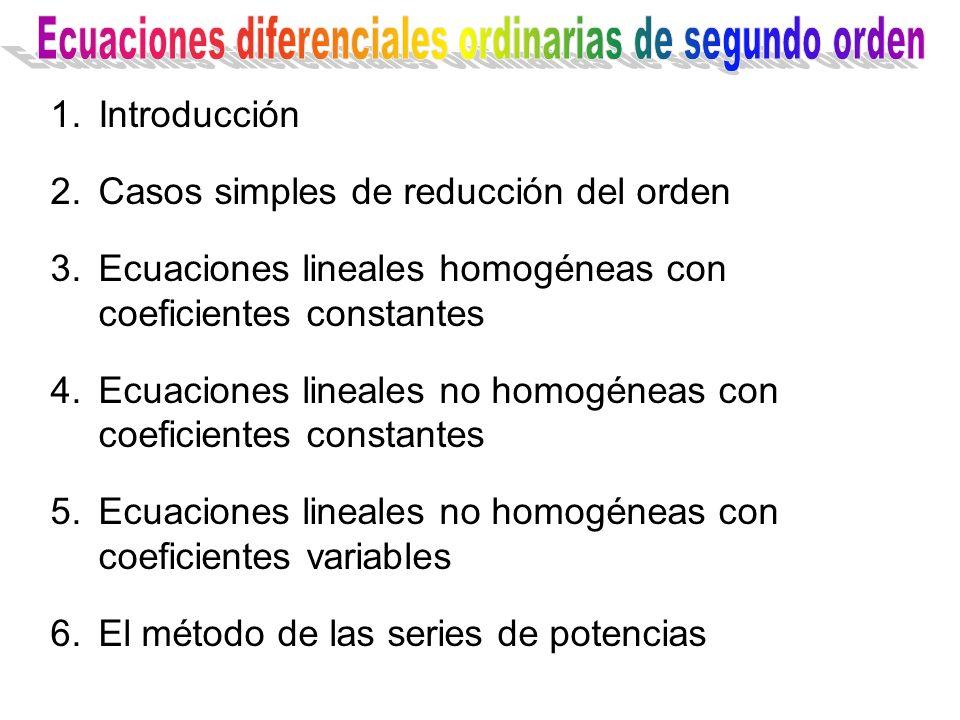 Ecuaciones diferenciales ordinarias de segundo orden