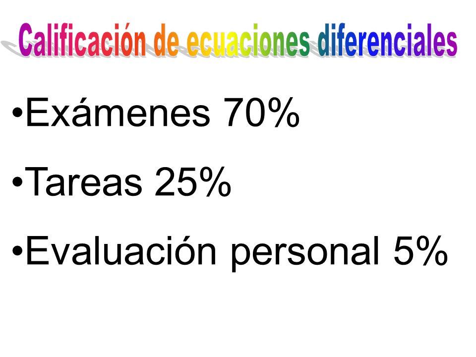 Calificación de ecuaciones diferenciales