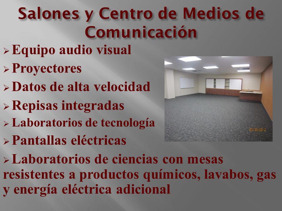 Salones y Centro de Medios de Comunicación