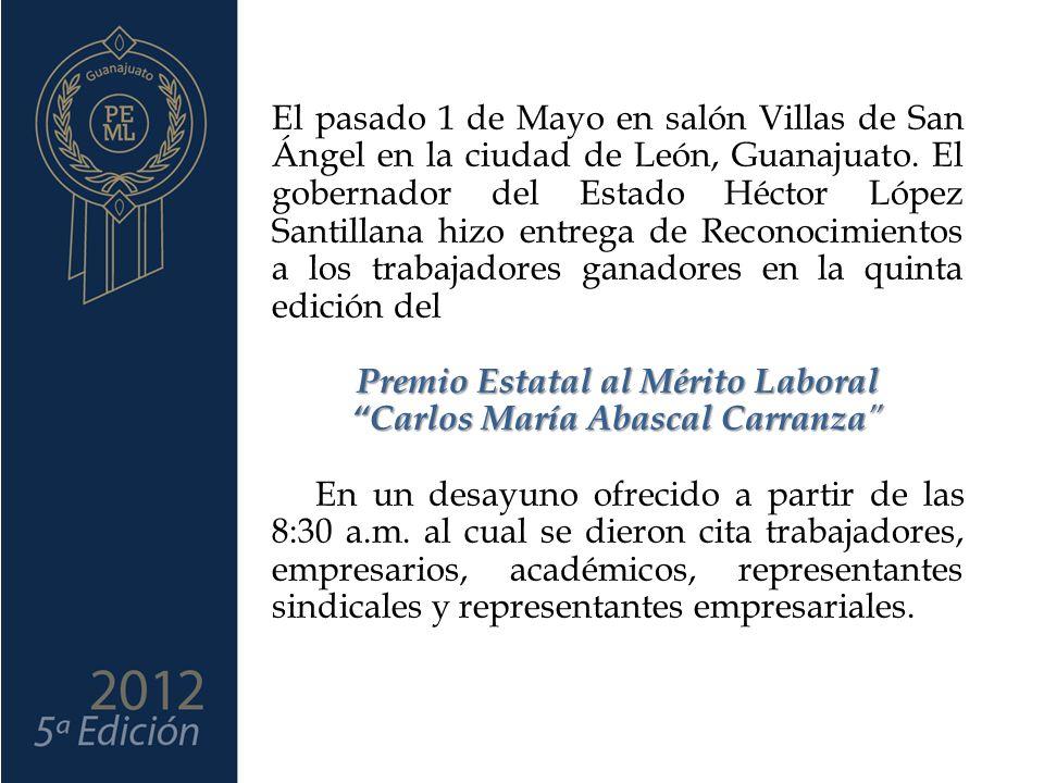 Premio Estatal al Mérito Laboral