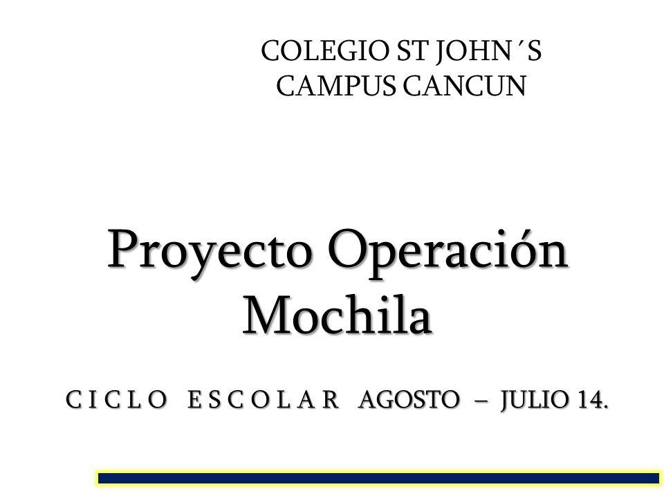 Proyecto Operación Mochila