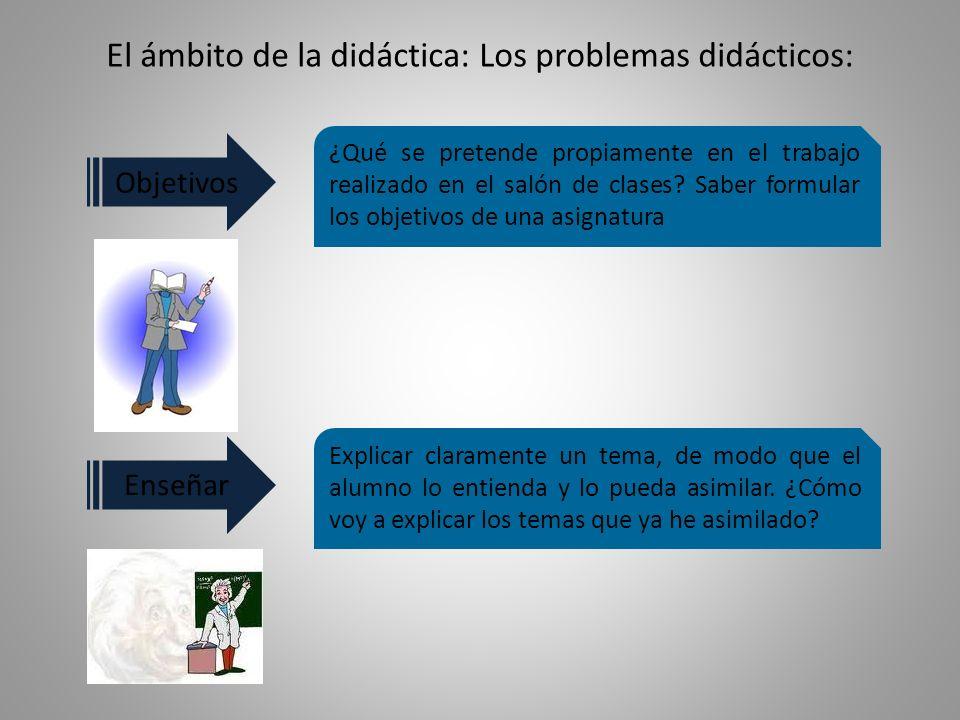 El ámbito de la didáctica: Los problemas didácticos: