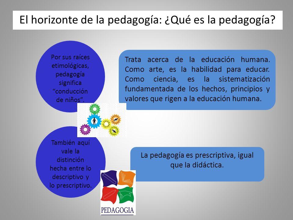 El horizonte de la pedagogía: ¿Qué es la pedagogía