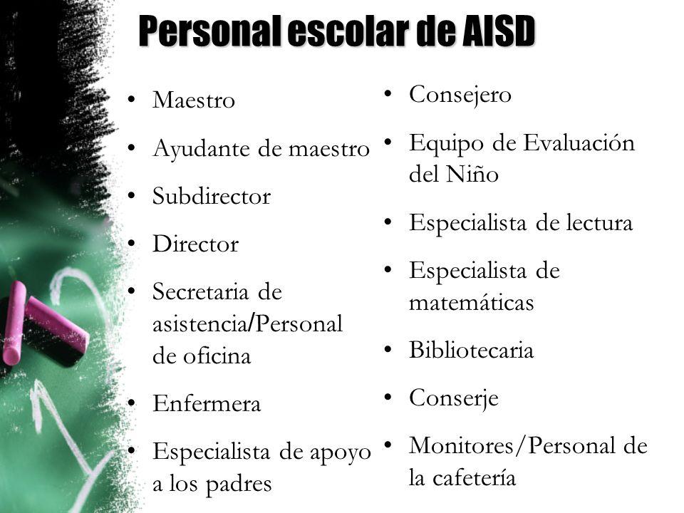 Personal escolar de AISD