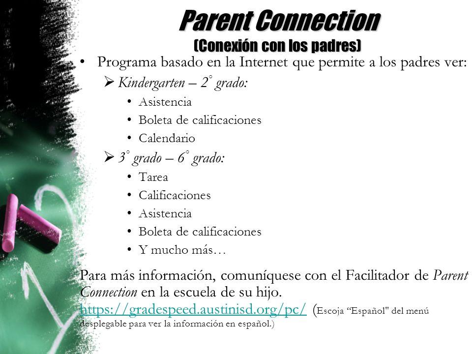 Parent Connection (Conexión con los padres)
