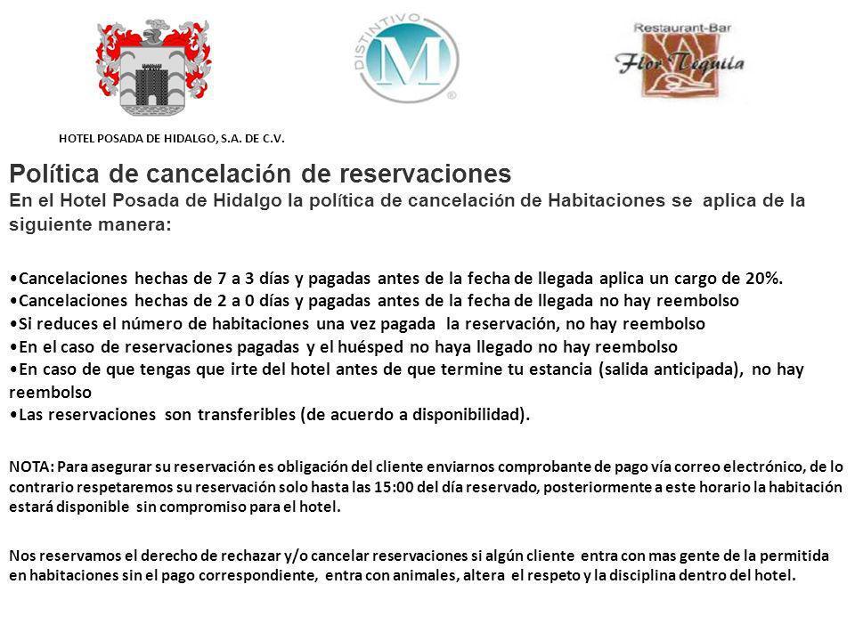 Política de cancelación de reservaciones