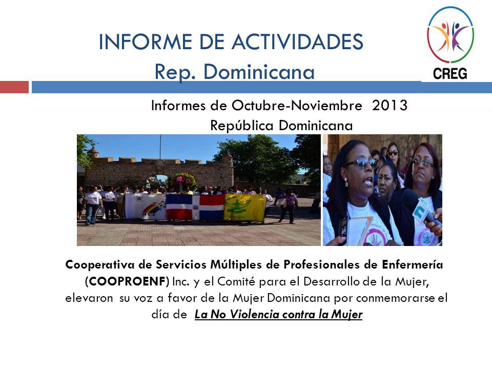 INFORME DE ACTIVIDADES Rep. Dominicana