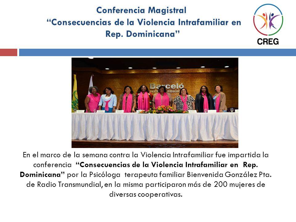 Conferencia Magistral Consecuencias de la Violencia Intrafamiliar en Rep. Dominicana