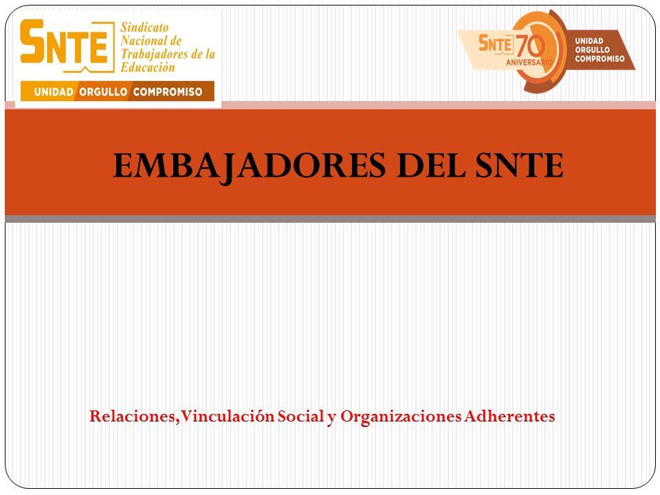 Relaciones, Vinculación Social y Organizaciones Adherentes