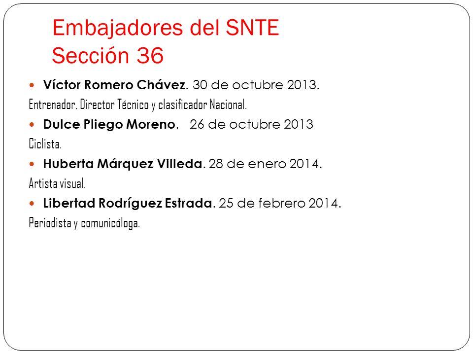 Embajadores del SNTE Sección 36