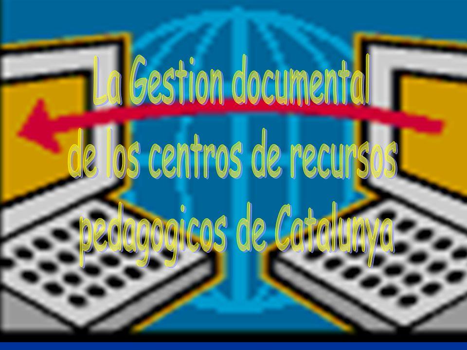 de los centros de recursos pedagogicos de Catalunya
