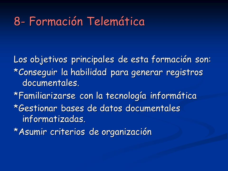 8- Formación Telemática
