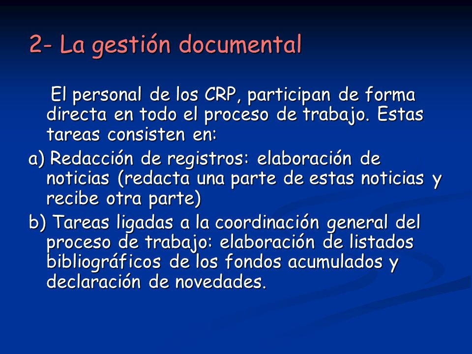 2- La gestión documental
