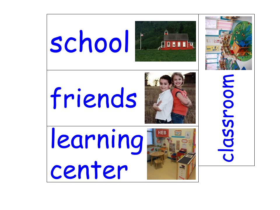 school classroom friends learning center