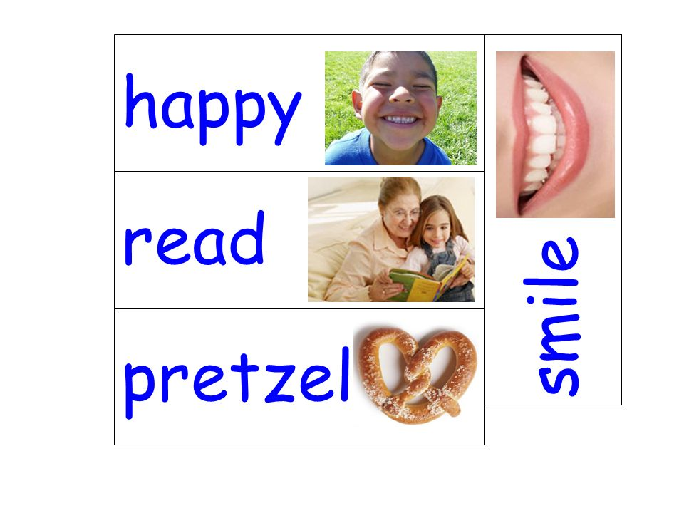 happy smile read pretzel