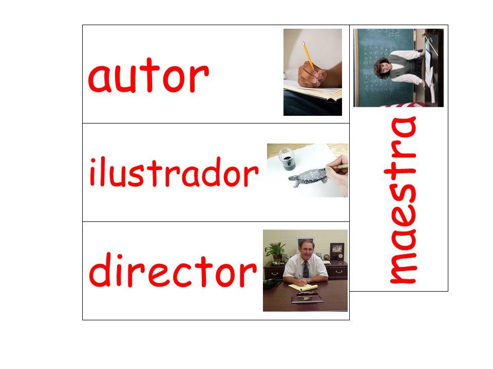 autor maestra ilustrador director