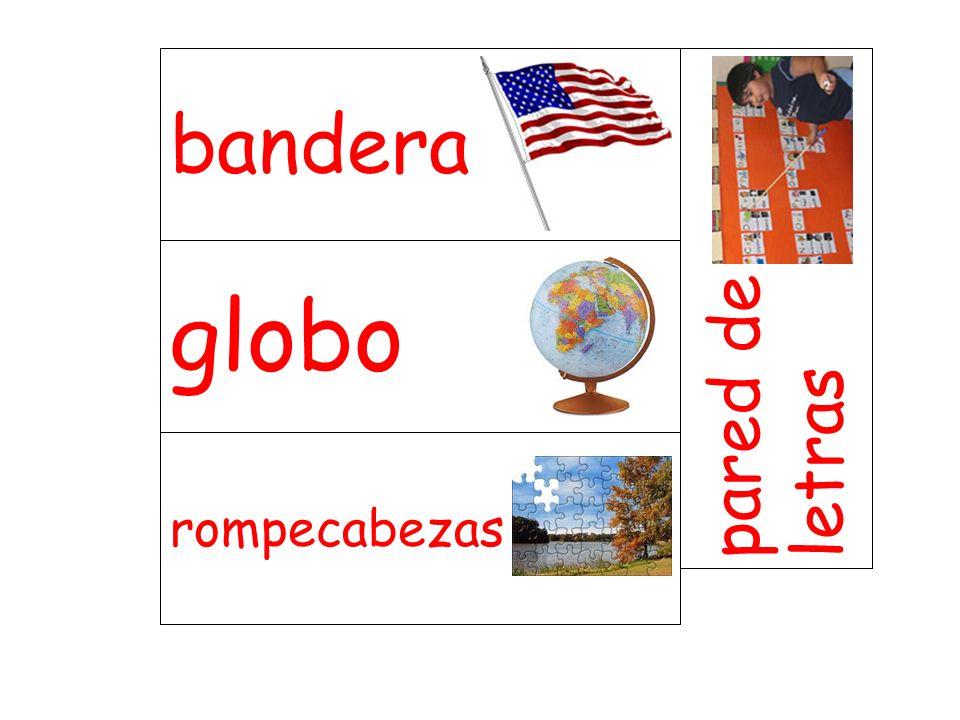 bandera pared de letras globo rompecabezas