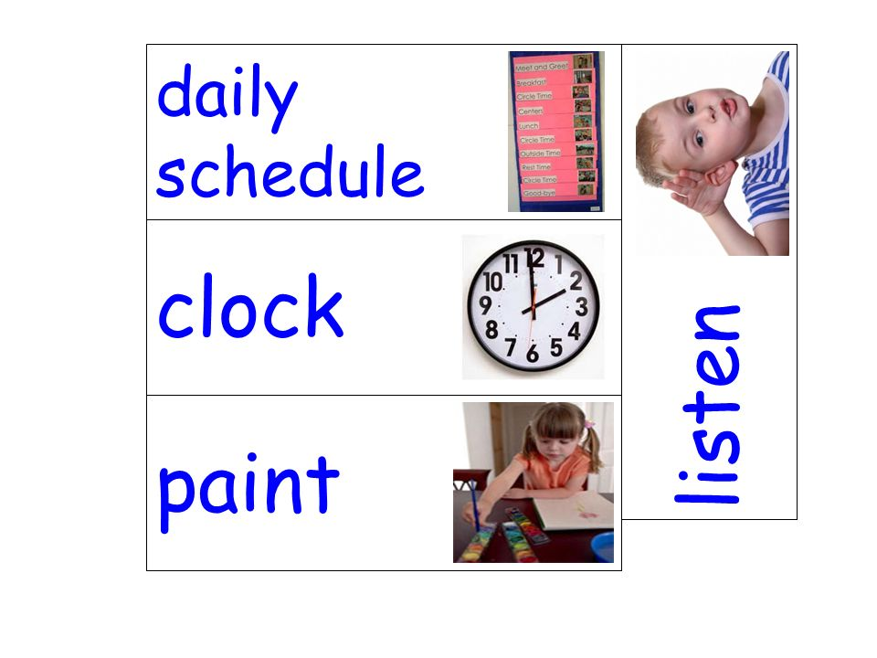 daily schedule listen clock paint