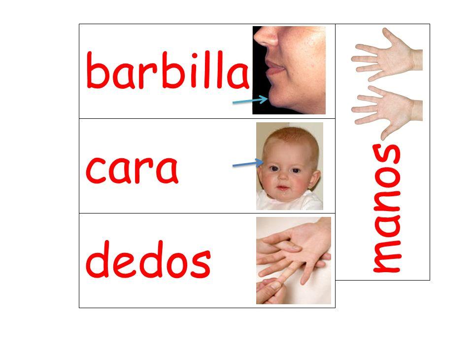 barbilla manos cara dedos