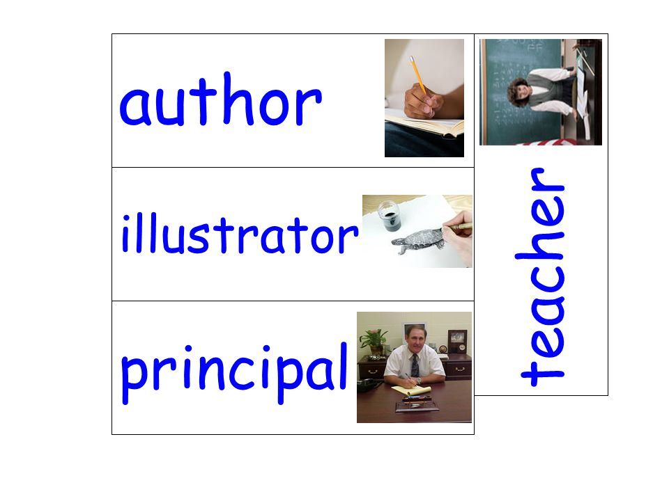 author teacher illustrator principal