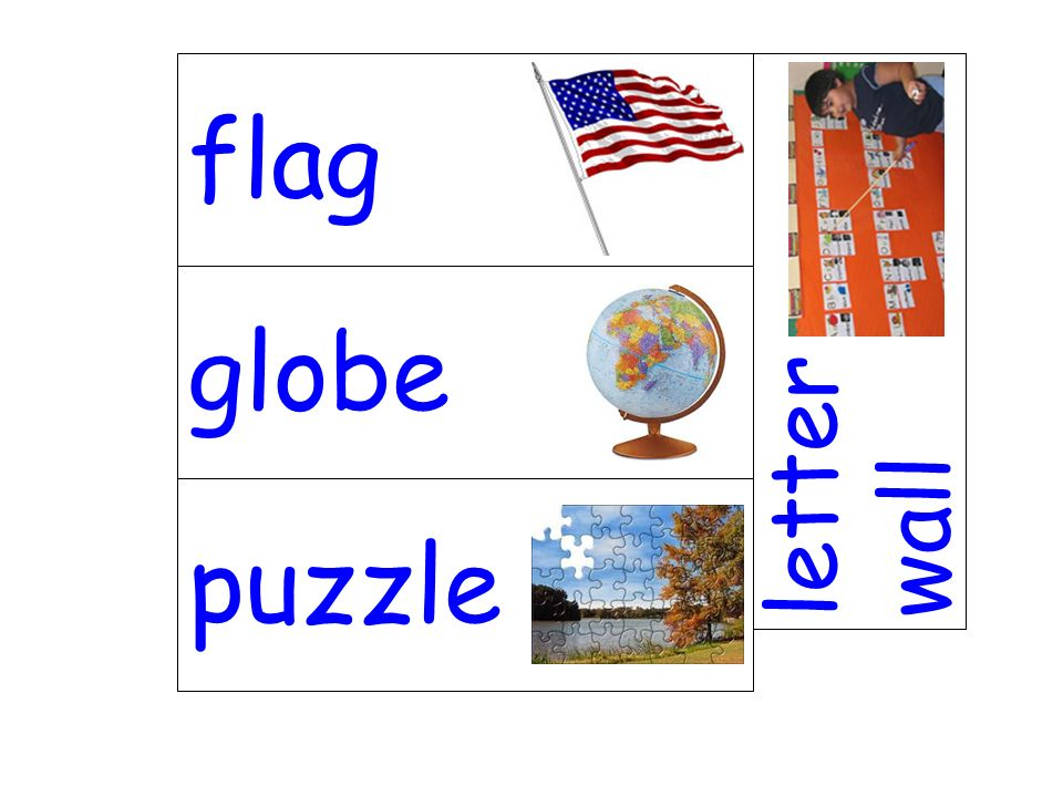 flag letter wall globe puzzle