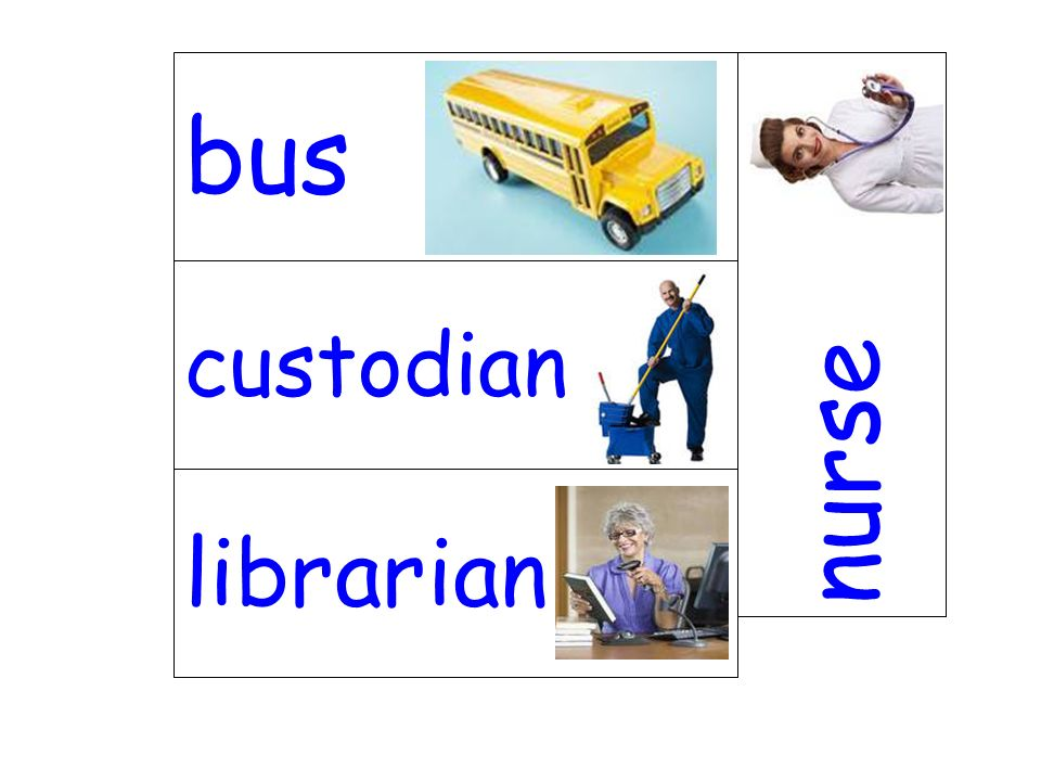 bus nurse custodian librarian