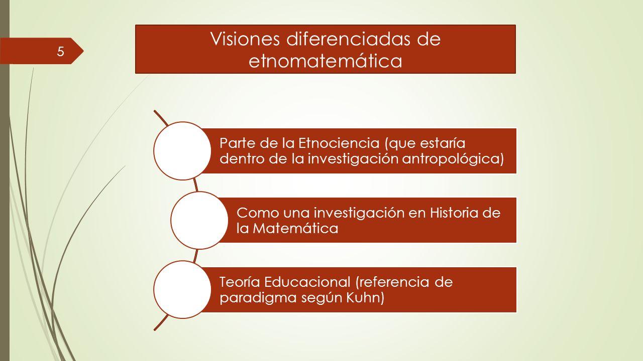 Visiones diferenciadas de etnomatemática