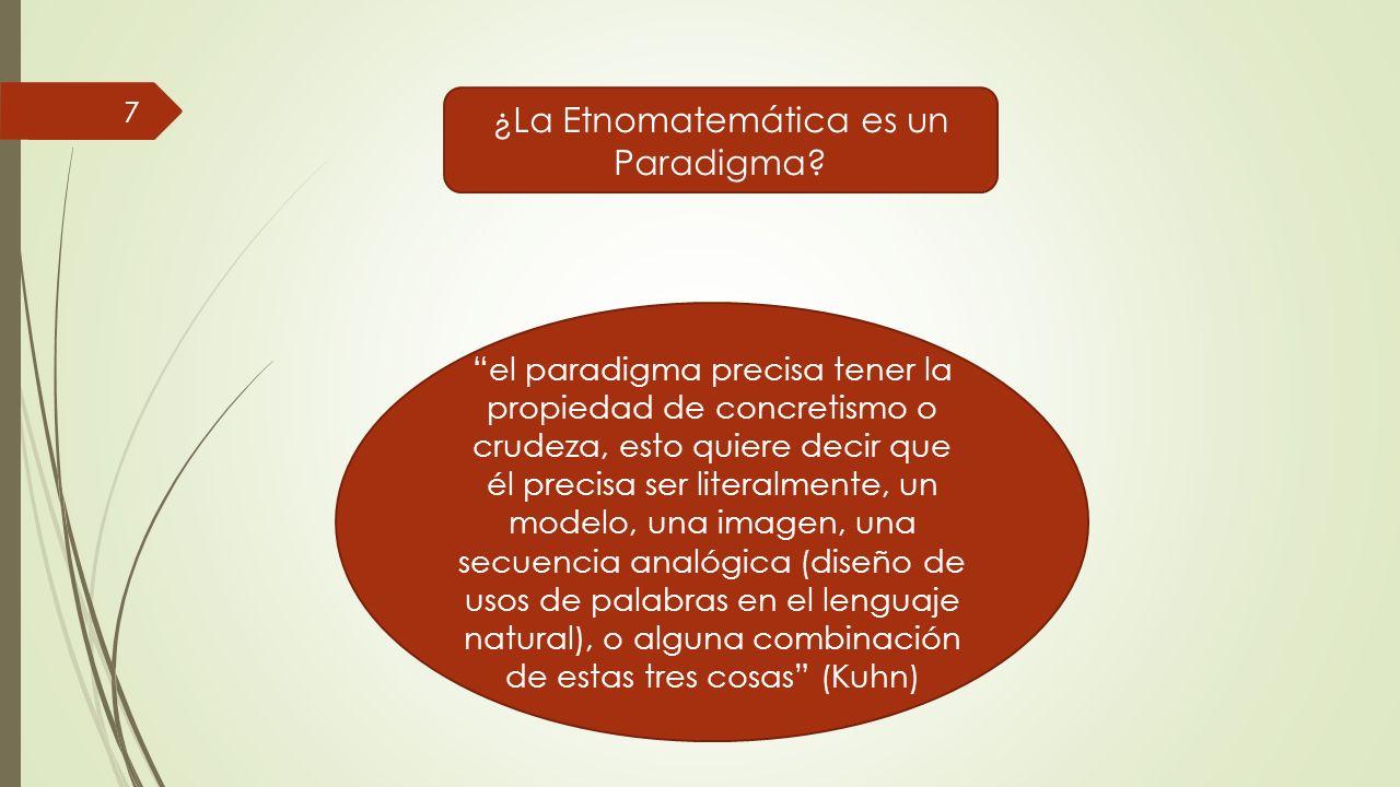 ¿La Etnomatemática es un Paradigma