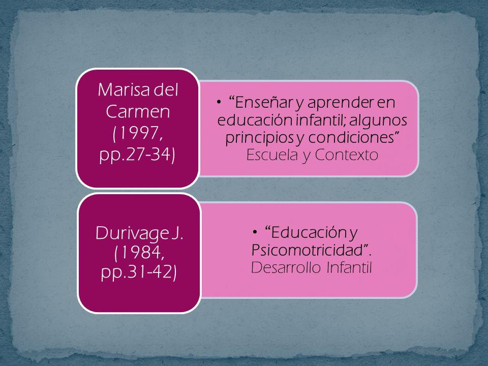 Marisa del Carmen (1997, pp.27-34)