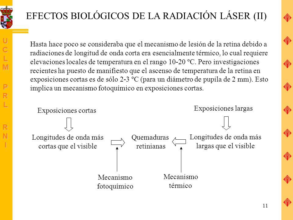 EFECTOS BIOLÓGICOS DE LA RADIACIÓN LÁSER (II)