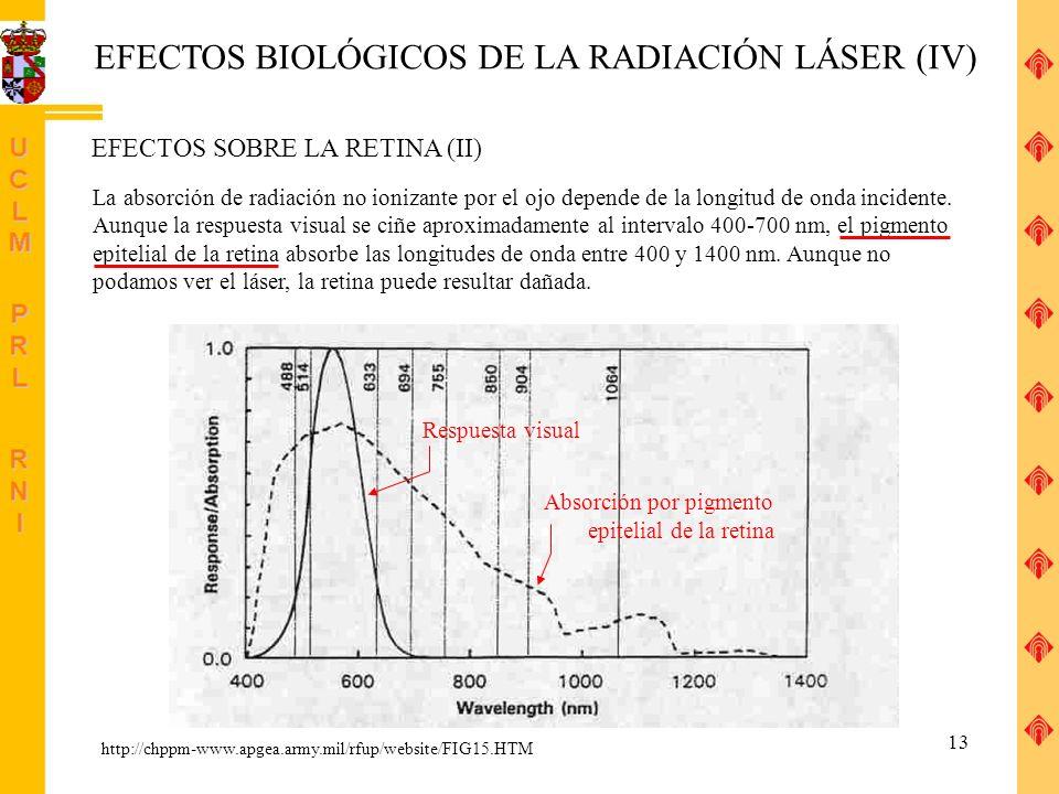 EFECTOS BIOLÓGICOS DE LA RADIACIÓN LÁSER (IV)